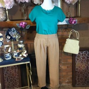 THE LIMITED CROPPED PANT (8); VINTAGE BLOUSE (M)